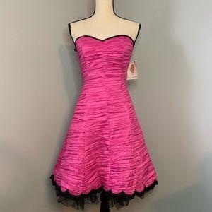 Strapless pink dress by Jessica McClintock